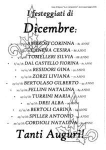 """FESTA DEI COMPLEANNI con la FRIZZANTE MUSICA di GABRIELLA & FRIENDS - Presso il GIARDINO d'INVERNO della Struttura @ GIARDINO D'INVERNO del CENTRO SERVIZI """"G. A. CAMPOSTRINI"""""""